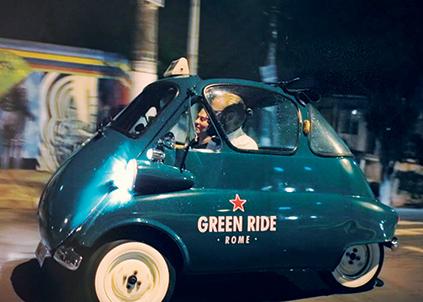 """Acima, o case """"Heineken Green Ride"""", premiado em 2016, e que trouxe exemplares de carros de sete países para rodar em São Paulo."""