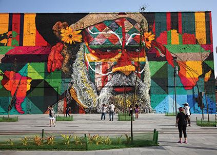 Acima, o mural Etnias, de Eduardo Kobra, ativação da Gael para os Jogos Olímpicos Rio 2016