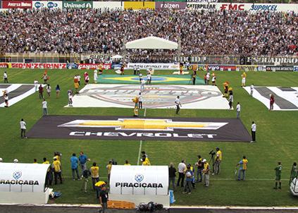Marca e torcedores unidos: ação envolveu a gestão de patrocínio da Chevrolet com ativação em mais de 3 mil jogos de campeonatos regionais do País