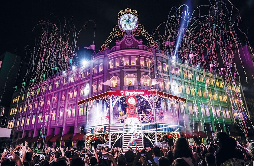 Ação do Bradesco no Natal do Palácio Avenida, em Curitiba: criatividade para mostrar que a arte e cultura têm o poder de transformação